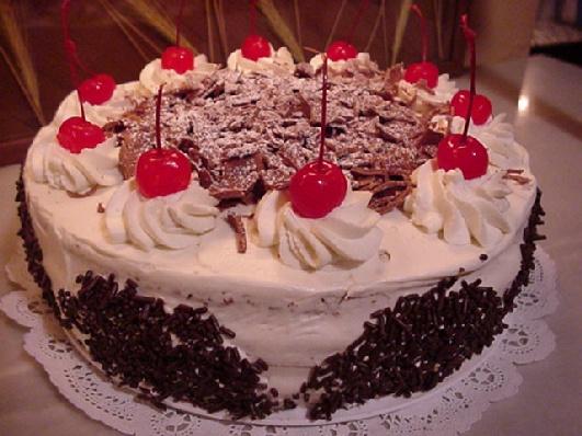 Black Forest Cake Big Images : Large Black Forest Cake - Large Cakes
